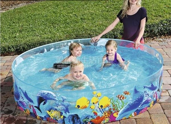 兒童家庭用免充氣游泳池摺疊室內戲水池小孩戶外玩水池加大號加厚 設計師生活百貨