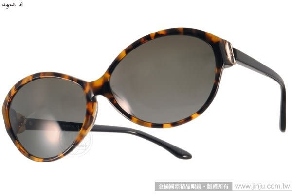 agnes b.太陽眼鏡 AB2819 YD (琥珀) 時髦百搭簡約小框款 # 金橘眼鏡