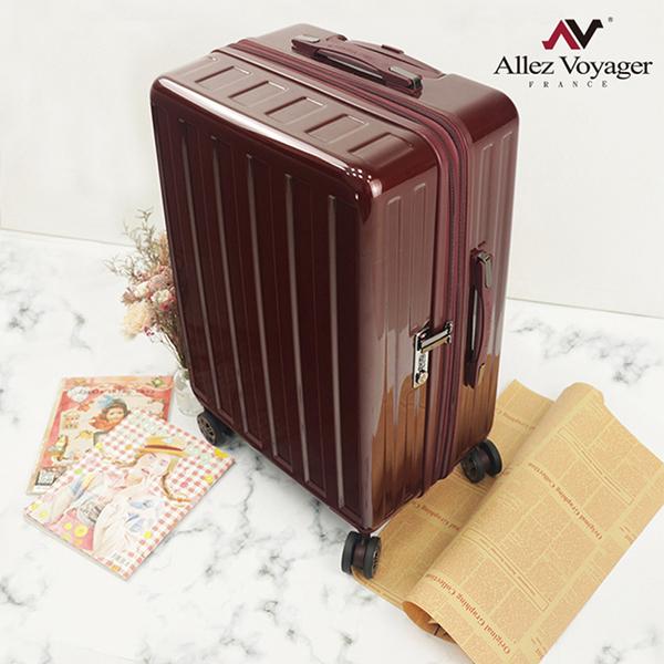行李箱 旅行箱 24吋 加大容量PC耐撞擊 法國奧莉薇閣 貨櫃競技場系列 酒紅色 (加贈防塵套)
