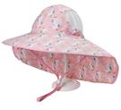 獨角獸 透氣網眼 大帽沿 防風繩 防曬遮陽帽 帽子 盆帽 大童 女童 遮陽帽 防曬 橘魔法 現貨 童帽