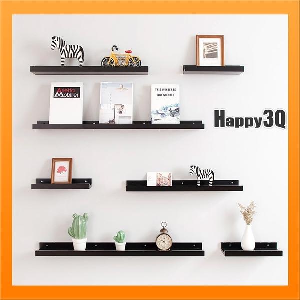 牆上置物架裝飾品架子牆壁裝飾鑰匙收納小物收納房間隔板-白/黑/木【AAA5566】預購