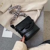 網紅側背小包包女新款潮流行百搭寬肩帶斜挎包時尚水桶包  魔法鞋櫃