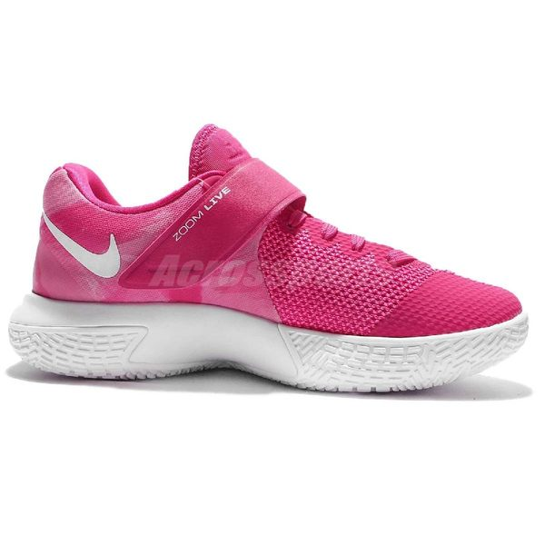 【五折特賣】Nike 籃球鞋 Zoom Live EP 粉紅 白 乳癌防治 低筒 魔鬼氈 女鞋 【PUMP306】 903563-600