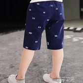 2019男童七分褲夏季薄款兒童休閒褲潮小童中大童短褲純棉寬鬆中褲   米娜小鋪