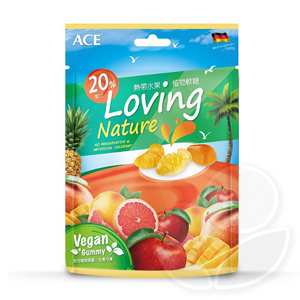 ACE 熱帶水果植物軟糖36g【佳兒園婦幼館】