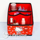 ﹝Kitty蘋果紅多功能折疊收納盒﹞正版可摺疊收納籃 桌上型瓶罐盒〖LifeTime一生流行館〗B01362