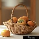 花籃 柳編水果籃手提買菜籃子田園藤編收納筐收納籃購物籃小花籃禮品籃 道禾