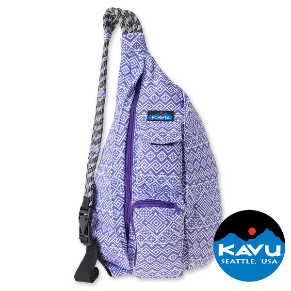 【KAVU】Rope Bag休閒斜肩背包『紫被毯』923-561