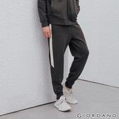 【GIORDANO】男裝G-MOTION側邊字母運動束口褲-08 雪花深炭綠