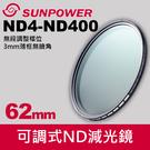 【現貨】62mm SUNPOWER TOP1 SMRC ND4-400 可調式 ND 減光鏡 抗耀光抗污防潑水 公司貨