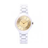 【Relax Time】超薄簡約時尚陶瓷腕錶-香檳金(小)/RT-33-11L/台灣總代理公司貨享一年保固