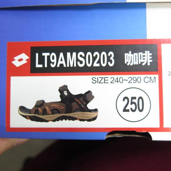 LOTTO 排水磁扣涼鞋 LT9AMS0203 男款 咖啡 夜間反光功能【iSport愛運動】