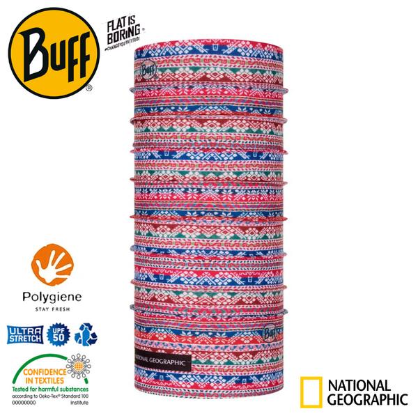 【BUFF 西班牙 國家地理 經典頭巾Plus 五彩斑斕】121545/圍脖/帽子/口罩/圍巾/吸溼排汗