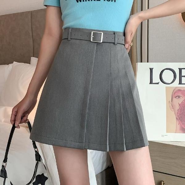 短裙 半身裙送皮帶不規則百褶裙夏季時尚短裙A字裙半身裙T617紅粉佳人