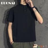 男士短袖t恤夏季新款韓版潮流polo衫上衣服寬鬆ins潮牌半袖男體恤