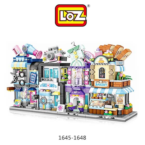 LOZ 迷你鑽石小積木 街景系列 #7 美髮店 麵包店 照相館 服飾店 樂高 益智玩具 正版