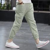 男童棉麻褲薄款兒童長褲夏季中大童褲子休閒10歲12夏裝13男孩  9號潮人館