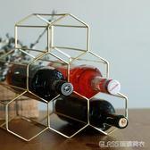 金屬紅酒架擺件創意葡萄酒架子家用客廳酒柜展示架簡約     琉璃美衣