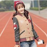 棒球外套-加厚休閒修身毛呢女短款夾克2色72aq21[巴黎精品]