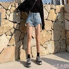 牛仔短褲牛仔短褲女2020春新款韓版chic寬鬆顯瘦闊腿高腰a字熱褲 suger