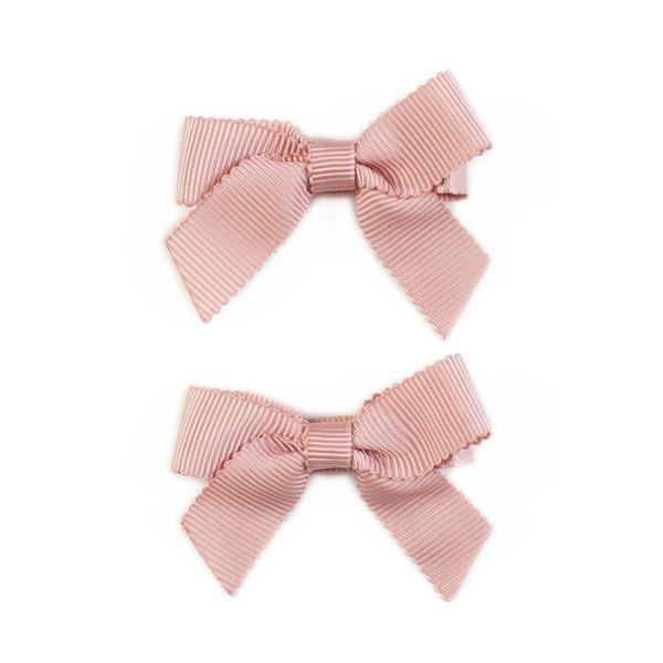 美國 Ribbies Clippies 經典蝴蝶結2入組-紫紅