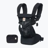 Ergobaby Omni 全階段型四式360透氣款嬰兒揹巾/揹帶-黑瑪瑙 贈Kids II哺乳曼波枕-粉紅快樂鳥語