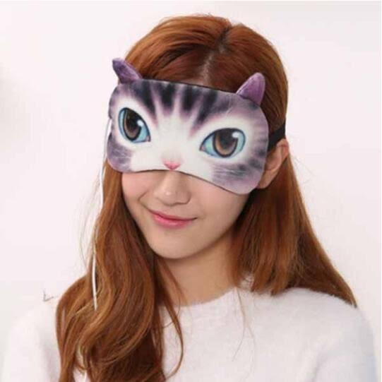 貓咪 喵星人 發熱 usb 眼罩 絨布 3D 立體 遮光 保暖 護眼 蒸氣 發熱 熱敷眼罩 可愛 創意