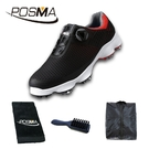 高爾夫球鞋 男士防水運動鞋 寬版鞋底 旋轉鞋帶鞋 GSH106BRED