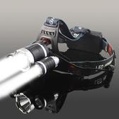 LED五頭燈強光充電式感應夜釣魚燈遠射手電筒