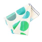 【HERMES】漸層藍綠圓點黃底絲巾(140x140) HE75000140