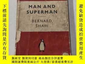 二手書博民逛書店MAN罕見AND SUPERMAN:人與超人(外文)Y212829