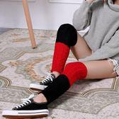 女襪套 襪子 秋冬彩色堆堆襪毛線麻花針織護腿套加厚保暖運動襪套【多多鞋包店】ps1608