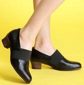 MIT*(橡膠底)束帶款/小牛皮/手工鞋-558013 黑-papaies 氣墊鞋 (全真皮)