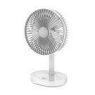 【安寶】 6吋3段速充電式LED燈DC電風扇 AB-6620-白