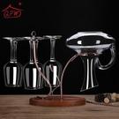 紅酒杯架 歐式實木紅酒杯醒酒器一體架創意懸掛倒掛高腳杯架子家用擺件裝飾