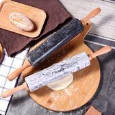 桿麵棍實木餃子皮家用大號滾軸烘焙滾筒趕面棍大理石走錘搟面棒 森活雜貨