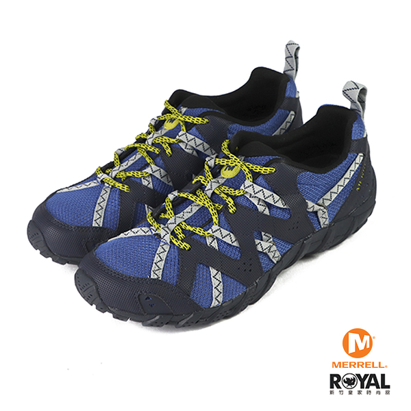 Merrell Cobalt 藍色 皮質 防水 水陸兩棲 運動鞋 男款 NO.B1310【新竹皇家 ML034053】