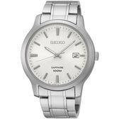 【台南 時代鐘錶 SEIKO】精工 CS系列簡約大三針時尚腕錶 SGEH39P1@7N42-0GE0S 白/銀 40mm