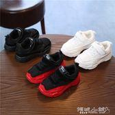 女童運動鞋 新春季運動鞋男童跑步鞋兒童款老爹鞋透氣網面女童鞋小童網鞋 傾城小鋪