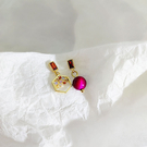 耳環 個性 幾何 鏤空 鑲鑽 珠珠 吊墜 不對稱 氣質 耳釘 耳環【DD1908062】 BOBI  10/03