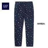 Gap女童 舒適可愛系帶休閒長褲 401529-海軍藍色