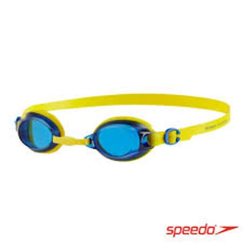SPEEDO 兒童 JET 基礎泳鏡 SD809298B567 黃藍 [陽光樂活]