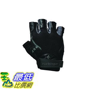 [106美國直購] 手套 Harbinger Pro Non-WristWrap Vented Cushioned Leather Palm Weightlifting Gloves