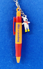 【震撼精品百貨】Gaspard et Lisa_麗莎和卡斯柏~吊飾附園子筆-紅橘#27653