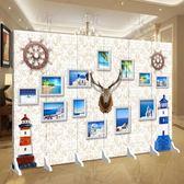訂製新歐式屏風簡約隔斷墻客廳酒店辦公室折疊實木移動雙面防水折屏  YTL