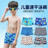 兒童泳褲男童平角泳衣游泳衣帶帽寶寶泳衣男孩分體泳裝中大童泳衣 【618特惠】