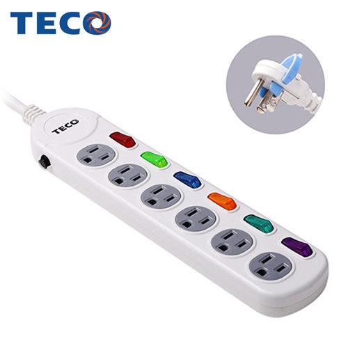 TECO東元六開六插轉接電源線組XYFWL26R6