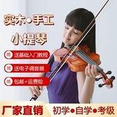 小提琴-初學小提琴初學者少兒童成人學生入門學習考級專業級實木棗木手工 夢娜麗莎YXS