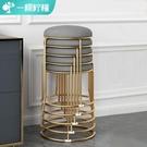 北歐餐椅輕奢凳子靠背家用現代簡約椅子餐桌椅休閒鐵藝網紅化妝椅 夢幻小鎮「快速出貨」