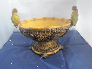 鸚鵡果盤 工藝品